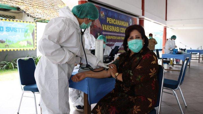 Sempat Terkendala Usia, Wakil Bupati Karo Dapat Vaksinasi di Tahap Kedua