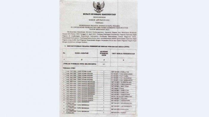 FORMASI CPNS Humbahas - Pemkab Humbahas Merekrut 17 CPNS dan 227 PPPK