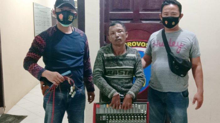 Curi Mixer Musik di Lapo Tuak, Polisi Polsek Datuk Bandar Tangkap Dani Saat Berada di Bengkel Mobil