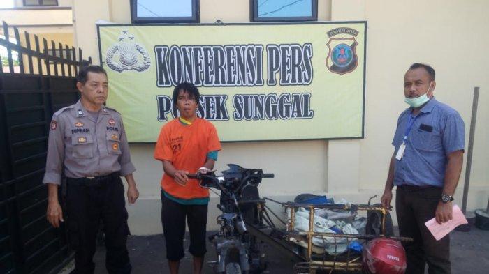 Pura-pura Cari Makanan Hewan Ternak, Pelaku Pencurian Betor Ditangkap Polisi