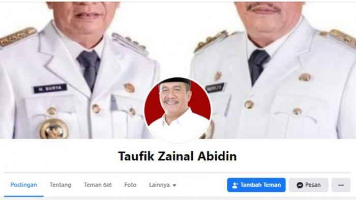 Waspada, Beredar Akun Palsu Wabup Asahan Taufik Zainal Abidin di Facebook