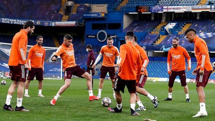 DAFTAR Pemain Real Madrid Hadapi Chelsea Liga Champions, Ramos Masuk, Varane Out, Live SCTV