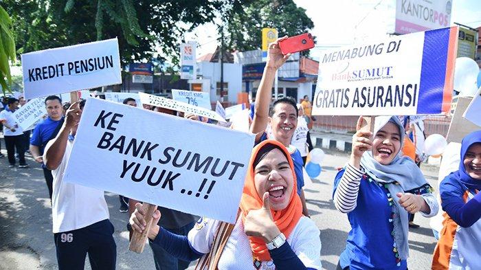 Bank Sumut Cabkor Padangsidempuan Adakan Jalan Sehat