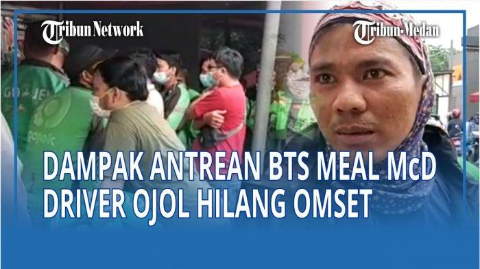 Dampak antrean BTS Meal McDonald's, Arif driver ojol mengaku telah kehilangan orderan. Normalnya, dalam rentang waktu 4 jam, bisa melayani 6 penumpang.
