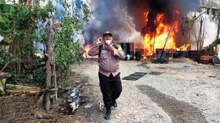 Dapur Penyulingan Minyak Ilegal di Langkat Kerap Terbakar, Kepala BLH Angkat Tangan