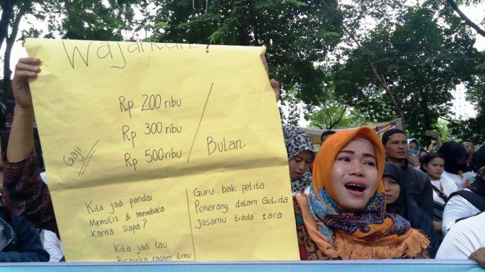 Momen Hardiknas, Guru Honorer Masih Digaji Rendah dan Minta Ini ke Dinas Pendidikan Kota Medan