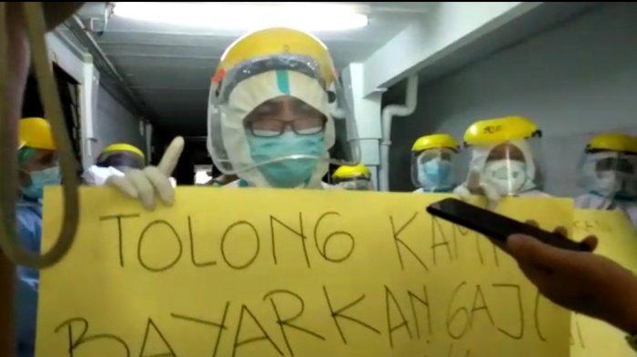 Tenaga Kesehatan di RS Pirngadi Unjuk Rasa, Protes Insentif Tak Dibayar Delapan Bulan