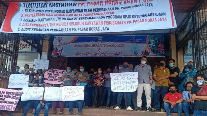 Karyawan Pasar Horas Pematangsiantar Sudah Enam Bulan Tak Gajian