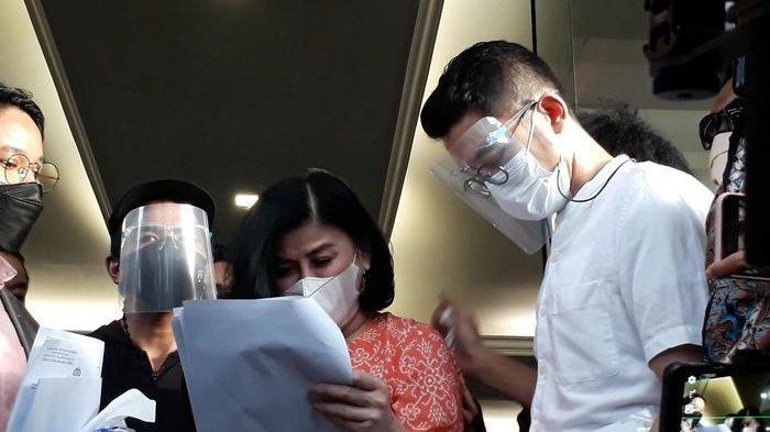 Desiree Tarigan saat ditemui Grid.ID di Polres Metro Jakarta Selatan, Rabu (7/4/2021).