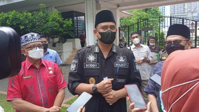 Wali Kota Medan Bobby Nasution saat jumpa pers dengan wartawan di Kantor Balaikota, Medan, Sumatera Utara, Jumat (25/6/2021).TRIBUN MEDAN/RISKI CAHYADI