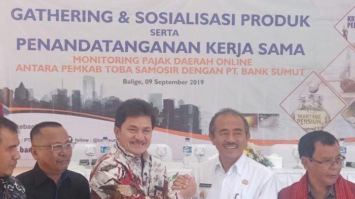 Pemkab Tobasa Kerja Sama Penerimaan Daerah Online dengan Bank Sumut