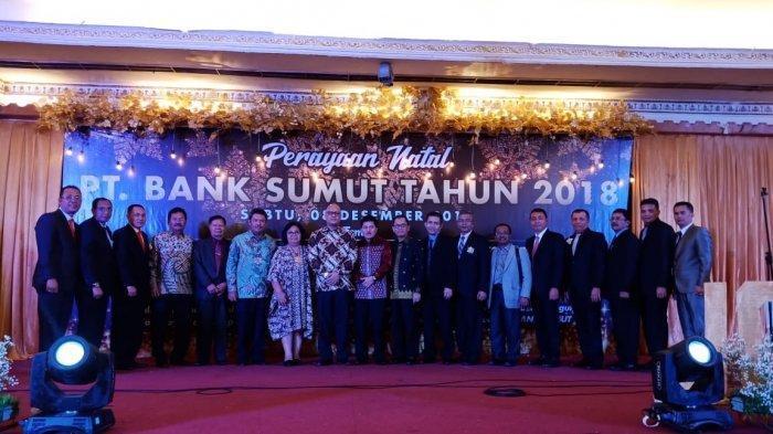 Adakan Perayaan Natal, Keluarga Besar Bank Sumut Ajak Karyawan Berdiri Teguh
