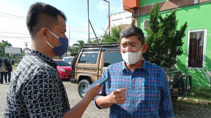Direktur RSUD Djoelham Kota Binjai, Dr. David Tambun, saat ditemui di pelataran rumah sakit, Jalan Sultan Hasanuddin, Kota Binjai.