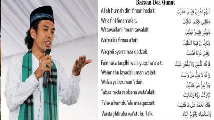 Doa Qunut Menurut Empat Mazhab, Simak Penjelasan UAS Agar Tidak Bingung Saat Sholat Berjemaah