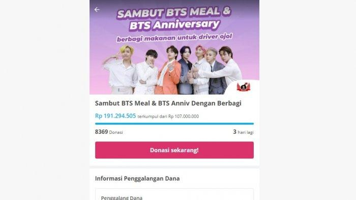 Launching BTS Meals Hari Pertama, Penggemar BTS Berhasil Kumpulkan Dana Rp191 Jutaan untuk Para Ojol