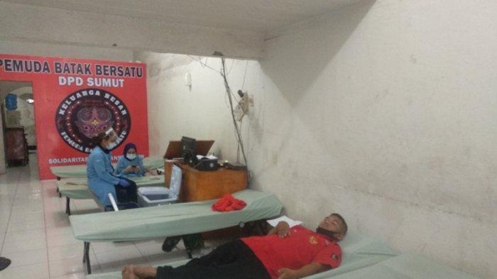 Peringati Hari Kemerdekaan ke-75, Pemuda Batak Bersatu Gelar Aksi Donor Darah