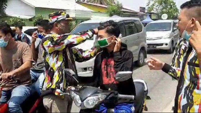 DPC PKN Deliserdang Bagikan 1.000 Masker, Tumpal Sijabat: Kami Dukung Pemerintah Tekan Covid-19
