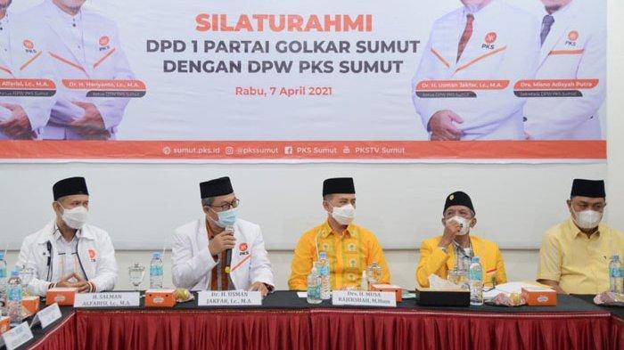 Dikunjungi Pengurus Golkar, PKS Sumut Ungkap Siap Bekerjasama Meski Beda Warna