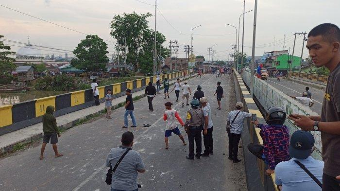 Tawuran Kembali Terjadi di Belawan, Polisi Terpaksa Letuskan Senjata untuk Membubarkan