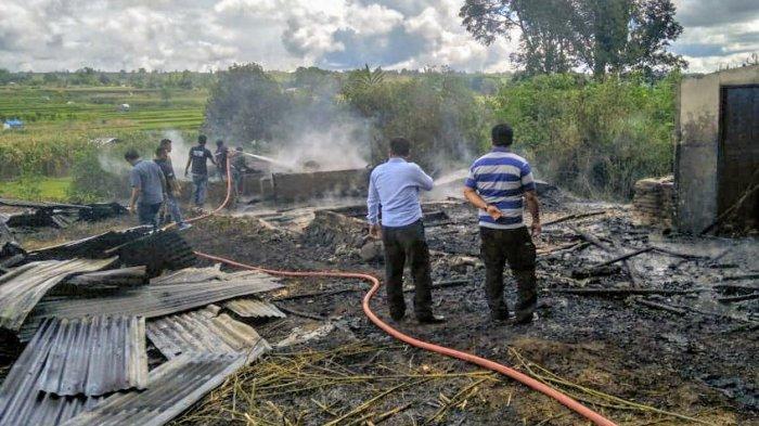 Ditinggal Sebentar Saja, Rumah Polisi Ini Ludes Terbakar