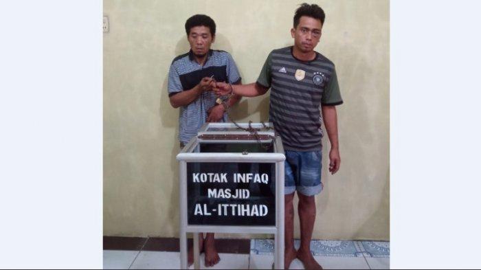 DUA 'Tukang Botot' Ketahuan Mencuri Uang dari Kotak Infaq Masjid Al Ittihad, Begini Nasibnya