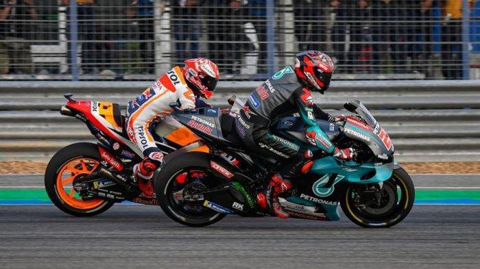 SEDANG Berlangsung Siaran Langsung MotoGP Spanyol 2020, Duel Seru Marquez Vs Quartararo Vinales