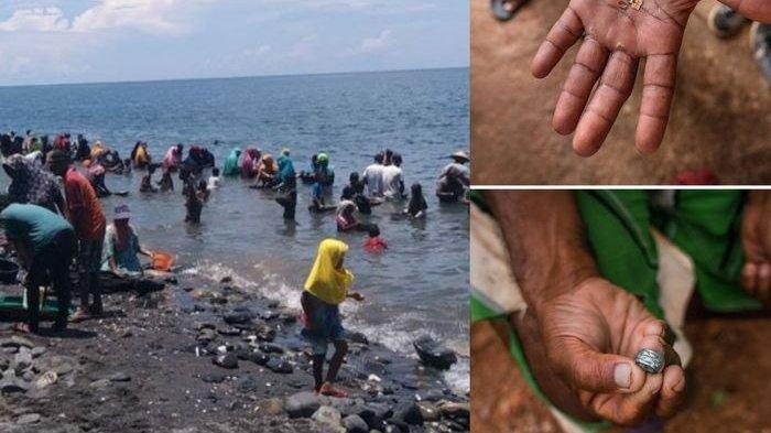 Warga pesisir Maluku Tengah berbondong-bondong mencari butiran emas di tepi pantai Maluku Tengah, siapa sangka kejadian serupa pernah terjadi di Guaca, Venezuela