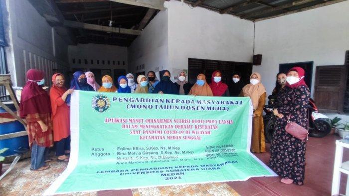 Sejumlah Dosen USU Melakukan Kegiatan Pengabdian Masyarakat di Kecamatan Sunggal, Kota Medan, Kamis (12/08/2021)