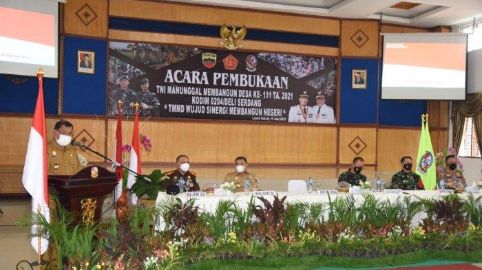 TMMD Deli Serdang ke-111 Resmi Dibuka, TNI Siap Membangun Desa