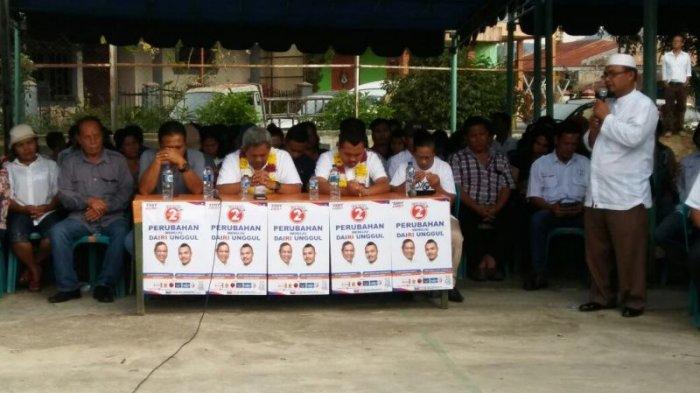 Kampanye di Desa Kalang Simbara, Forum Masyarakat dan Ormas Komit Menangkan Eddy-Jimmy