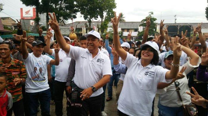 Meriah, Eddy-Jimmy Joget Bersama Masyarakat Sidikalang di Gedung Nasional Djauli Manik