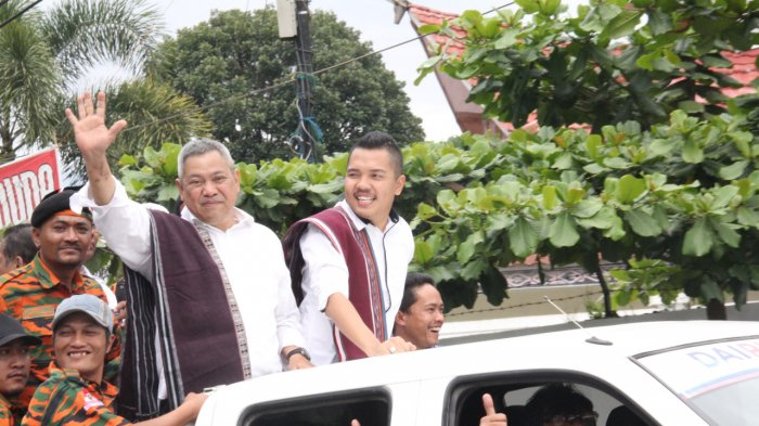 Artis Batak Jojo Idol dan Trio Elexis Ramaikan Pendaftaran Paslon Eddy-Jimmi
