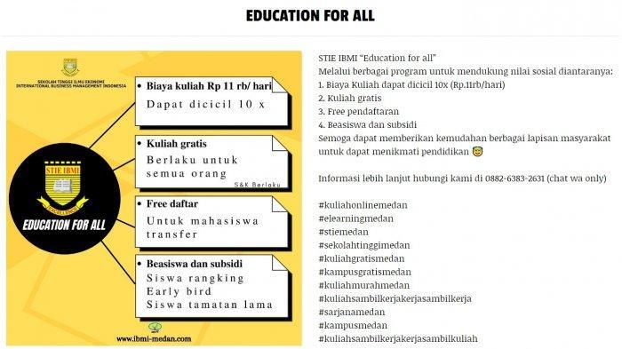 'Education for All' Solusi Pendidikan Masa Pandemi