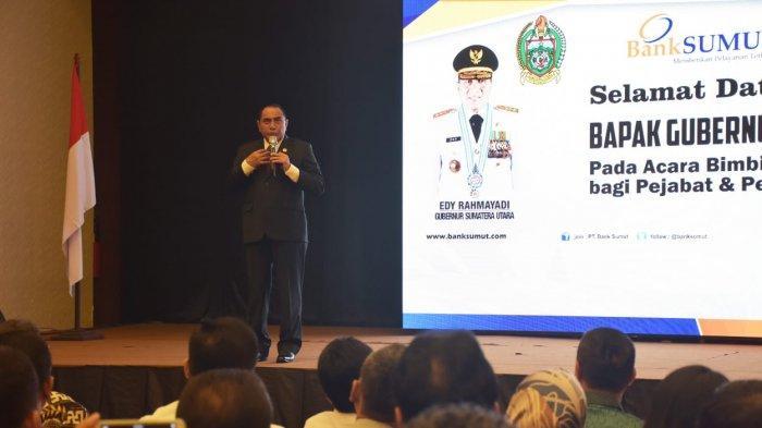 Gubsu Berikan Motivasi kepada Pejabat dan Pegawai Bank Sumut