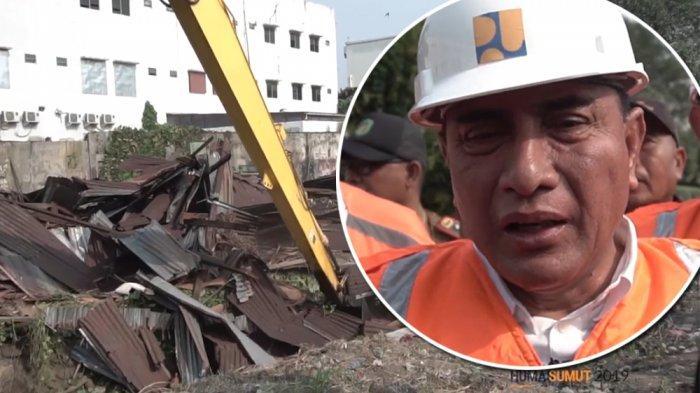 Detik-detik Gubernur Edy Robohkan Bangunan di Bantaran Sungai untuk Medan Bebas Banjir 2022