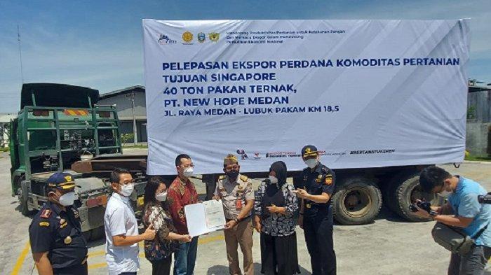 Perdana, Sumut Ekspor 40 Ton Pakan Ternak ke Singapura Senilai Rp316 Juta
