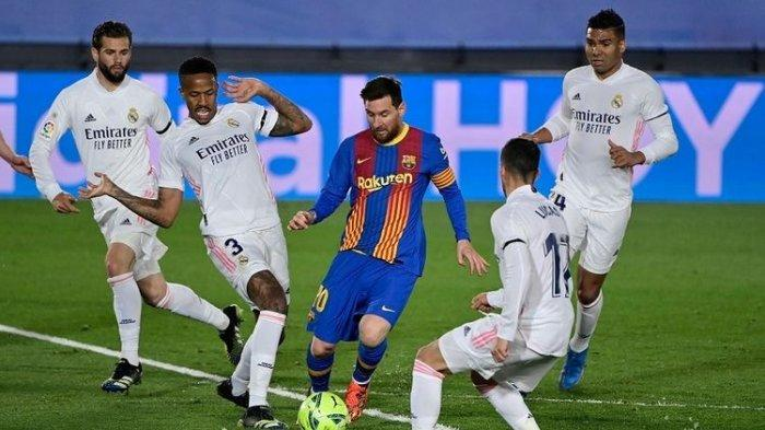 Hasil Real Madrid Vs Barcelona - Tumbangkan Lionel Messi Cs, Zidane: Ibarat Menang Lawan Liverpool