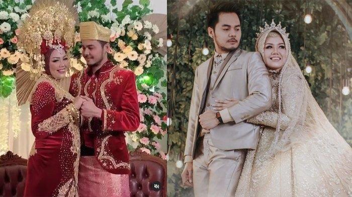 Foto pernikahan Elly Sugigi dengan pacar berondong bernama Aher