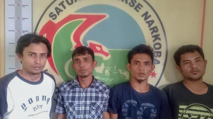 Niat Cari Kerja di Sidikalang, Empat Pemuda asal Tapteng Terciduk Pesta Narkoba di Hotel