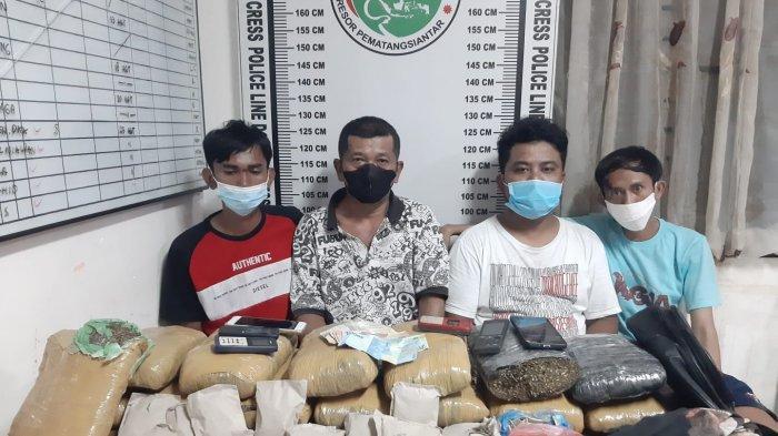 Polres Siantar Gagalkan Peredaran 14,5 Kilogram Ganja Jaringan Asal Aceh
