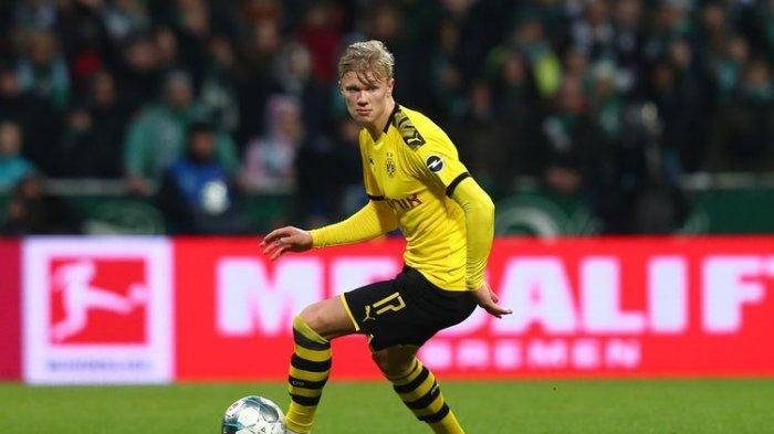 Sesaat Lagi Siaran Langsung Nonton TV Online Dortmund vs Sevilla di Vidio.com, Erling Haaland Main
