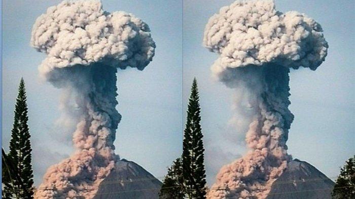Gunung Sinabung Bergejolak Lagi Luncurkan Awan Panas