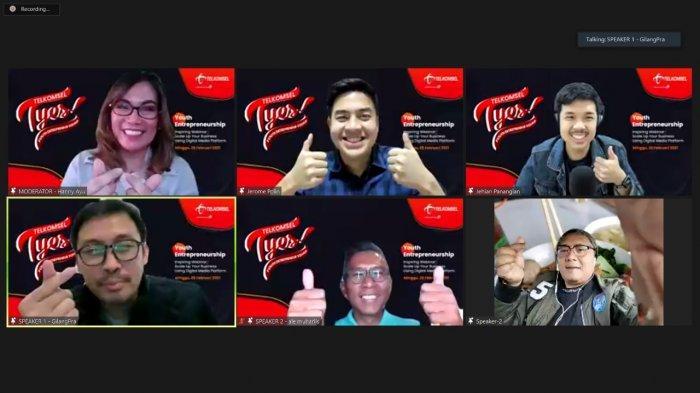 Gelar Inspiring Webinar, Telkomsel Dorong Pertumbuhan Digipreneur Mahasiswa dan Pelajar Sumatra