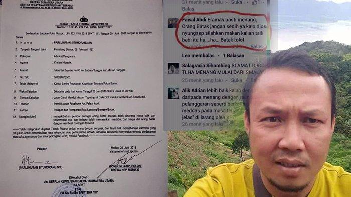 Posting Ujaran Kebencian SARA-Menghina Suku Batak di Facebook, Faisal Abdi Diburu Polisi