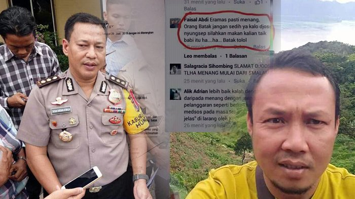 Hina Suku Batak di Facebook, Faisal Abdi Diburu Polisi! Berikut Ini Pesan Menohok AKBP Tatan Dirsan