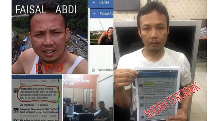 Akhirnya si Penghina Etnis Batak di Facebook, Faisal Abdi Berhasil Ditangkap Polda Sumut