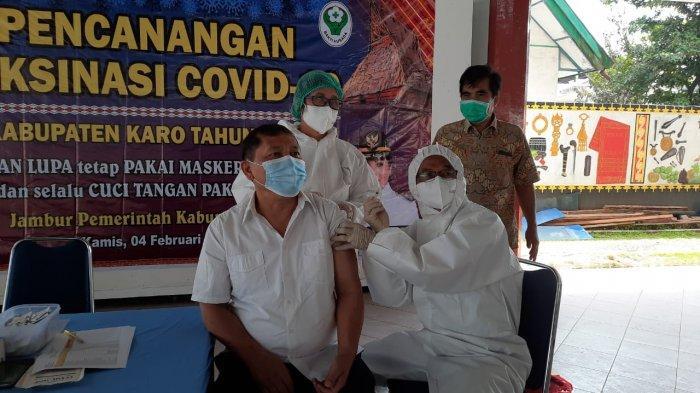 Forkopimda Karo Jalani Vaksinasi Covid Tahap Dua, Bupati Sebut Tidak Ada Efek Samping