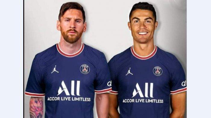 KERABAT Bos PSG Beri Sinyal Borong Cristiano Ronaldo ke Paris, Viral Usai Sematkan Foto Bareng Messi