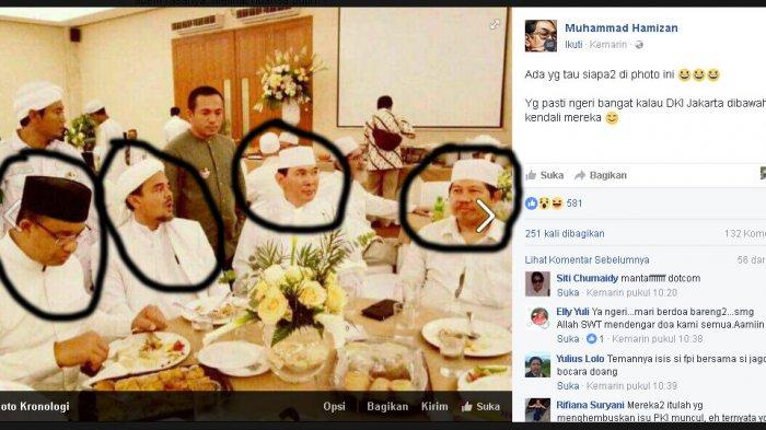 Foto Makan Bareng: Anies, Tommy Soeharto, dan Rizieq