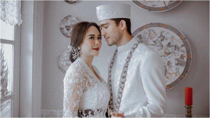 Foto pernikahan Aura Kasih dengan pria asal Brazil bernama Eryck Clecyus Alved Amaral.
